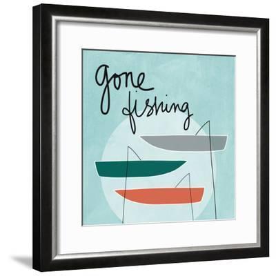 Gone Fishing-Linda Woods-Framed Premium Giclee Print