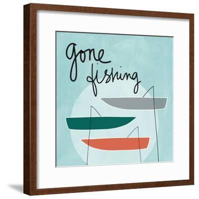 Gone Fishing-Linda Woods-Framed Art Print
