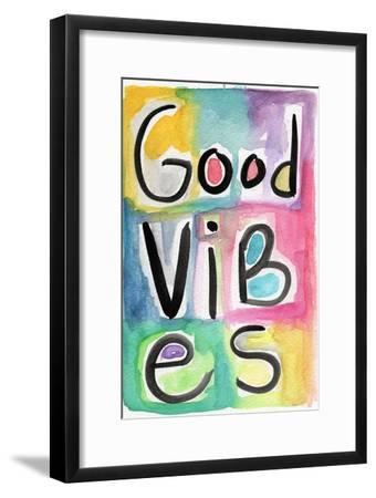 Good Vibes-Linda Woods-Framed Art Print