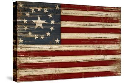 American Flag-Jennifer Pugh-Stretched Canvas Print