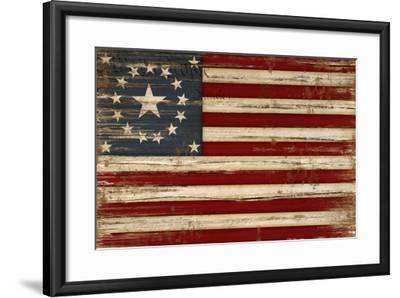 American Flag-Jennifer Pugh-Framed Art Print
