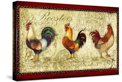 Three Roosters-Viv Eisner-Stretched Canvas Print