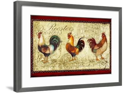 Three Roosters-Viv Eisner-Framed Art Print