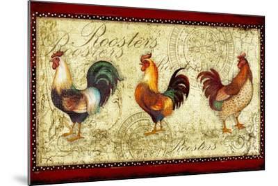 Three Roosters-Viv Eisner-Mounted Art Print