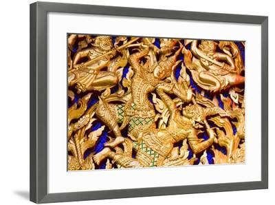 Classic Thai Art on a Temple- BugTiger-Framed Art Print