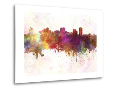 Manila Skyline in Watercolor Background-paulrommer-Metal Print