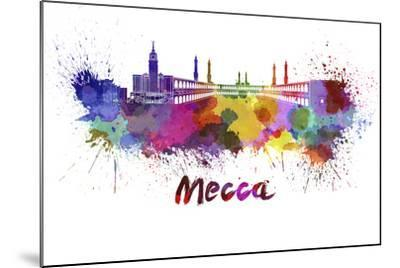 Mecca Skyline in Watercolor-paulrommer-Mounted Art Print