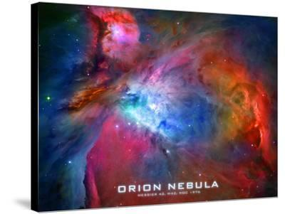 Orion Nebula Text Space Photo Poster Print--Stretched Canvas Print