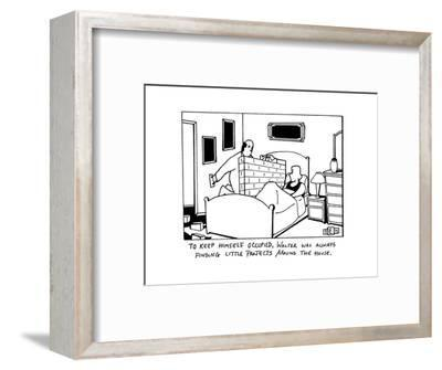 """To Keep himself occupied, Walter was always finding little projects aroun?"" - New Yorker Cartoon-Bruce Eric Kaplan-Framed Premium Giclee Print"