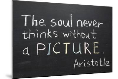 Aristotle Quote-Yury Zap-Mounted Art Print