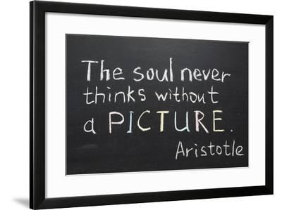 Aristotle Quote-Yury Zap-Framed Art Print
