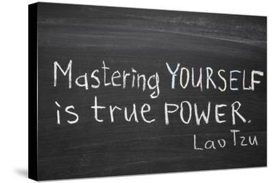 Mastering Yourself-Yury Zap-Stretched Canvas Print