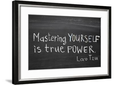 Mastering Yourself-Yury Zap-Framed Art Print
