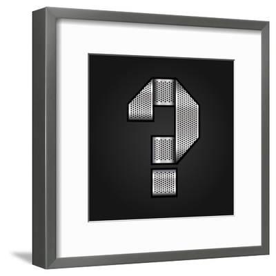 Letter Metal Chrome Ribbon - Question Mark-Ecelop-Framed Art Print
