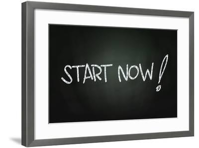 Start Now-airdone-Framed Art Print