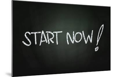 Start Now-airdone-Mounted Art Print