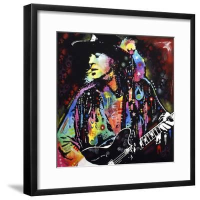 Stevie Ray Vaughan-Dean Russo-Framed Premium Giclee Print