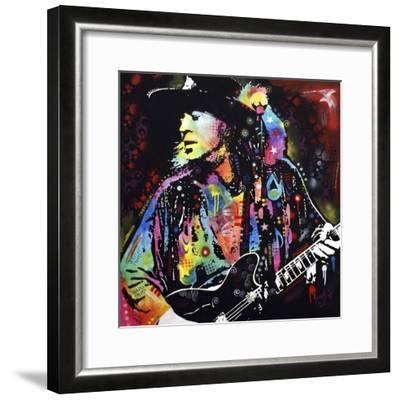 Stevie Ray Vaughan-Dean Russo-Framed Giclee Print