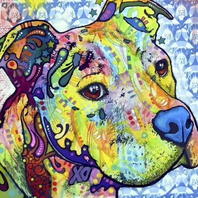 Thoughtful Pit Bull This Years Love 2013 Part 2-Dean Russo-Framed Giclee Print