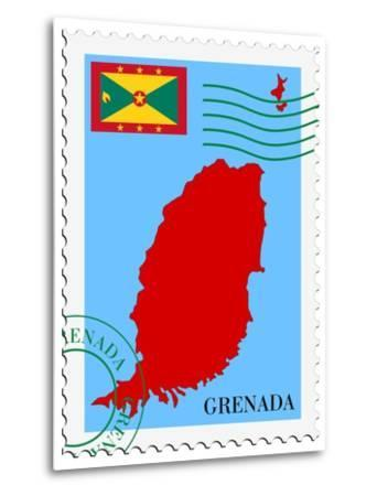 Mail To-From Grenada-Perysty-Metal Print