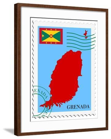 Mail To-From Grenada-Perysty-Framed Art Print