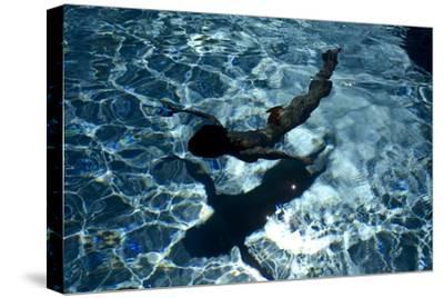 Blue Water 8433-Rica Belna-Stretched Canvas Print