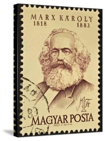 Marx Stamp-marzolino-Stretched Canvas Print