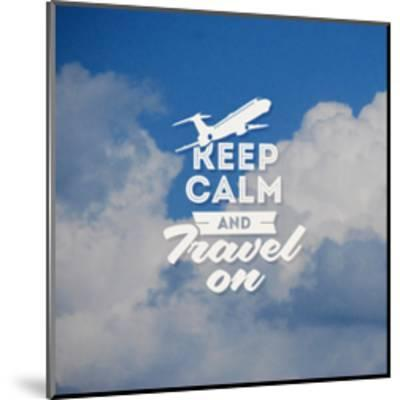 Travel Type Design with Clouds Background-vso-Mounted Art Print