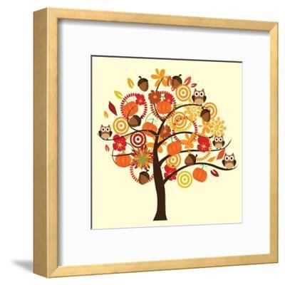 Fall Tree-relato-Framed Art Print