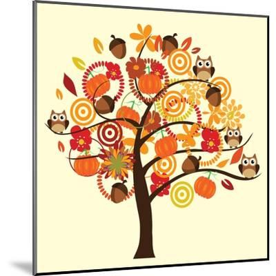 Fall Tree-relato-Mounted Art Print