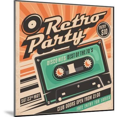 Retro Party Poster Design-Lukeruk-Mounted Art Print