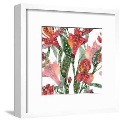 Abstract Floral Pattern-mika48-Framed Art Print