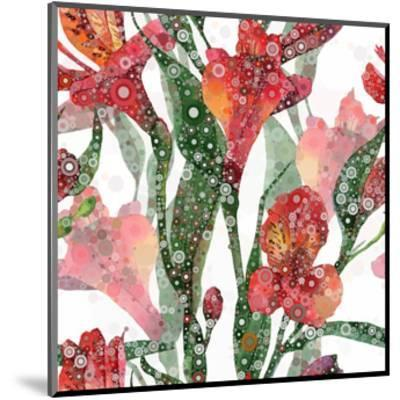 Abstract Floral Pattern-mika48-Mounted Art Print