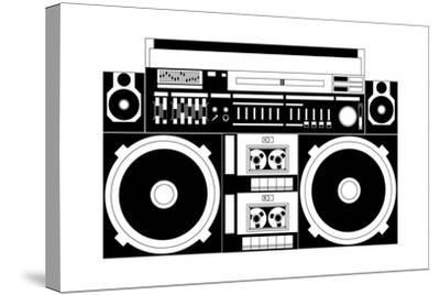 Vector Image of a Classic Boombox-Chisnikov-Stretched Canvas Print
