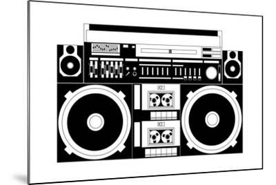 Vector Image of a Classic Boombox-Chisnikov-Mounted Art Print