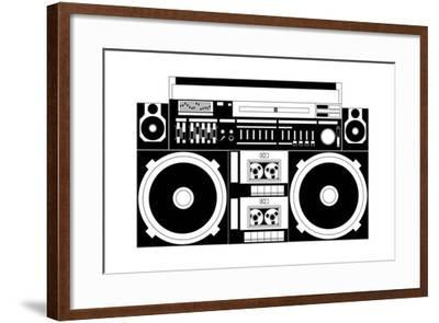 Vector Image of a Classic Boombox-Chisnikov-Framed Art Print