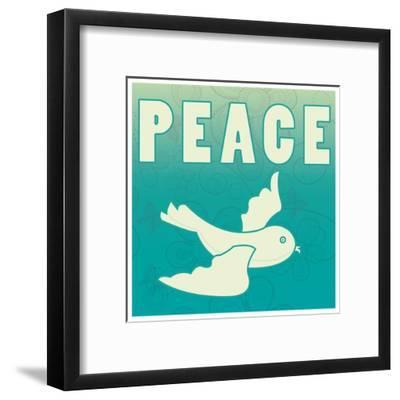 Peace-larJoka-Framed Art Print