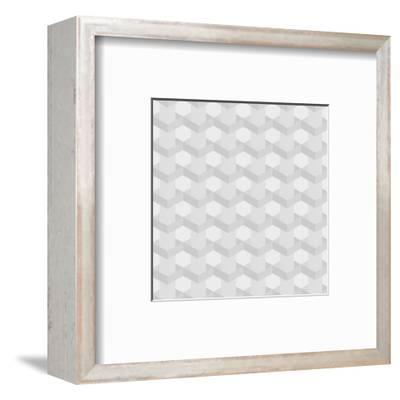 Seamless Texture of Grey to White Squares-Little_cuckoo-Framed Art Print