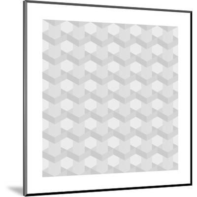 Seamless Texture of Grey to White Squares-Little_cuckoo-Mounted Art Print