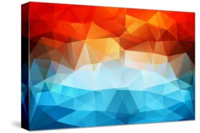 Abstract Geometric Background-Slanapotam-Stretched Canvas Print