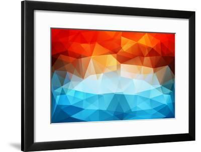 Abstract Geometric Background-Slanapotam-Framed Art Print