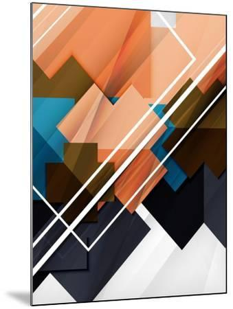 Geometrical Shape Abstract Background. for Business Background | Numbered Banners | Business Lines-antishock-Mounted Art Print