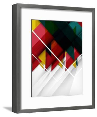 Geometrical Shape Abstract Background. for Business Background   Numbered Banners   Business Lines-antishock-Framed Art Print