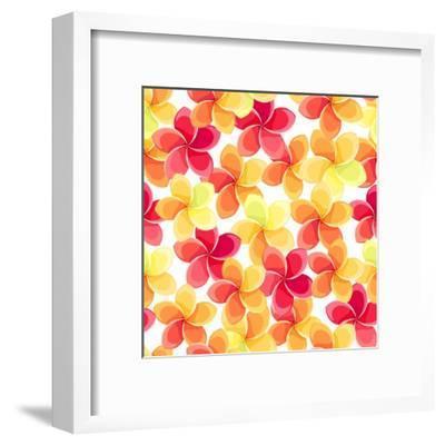 Background with Colorful Flowers-Naddiya-Framed Art Print