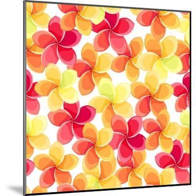 Background with Colorful Flowers-Naddiya-Mounted Art Print