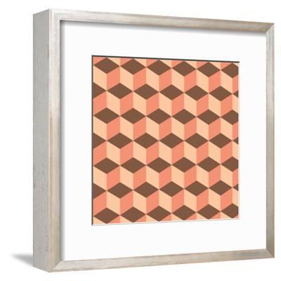 Geometric Background-AnaMarques-Framed Art Print
