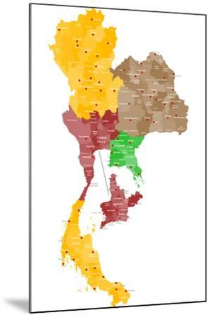 Map of Thailand-malachy120-Mounted Art Print