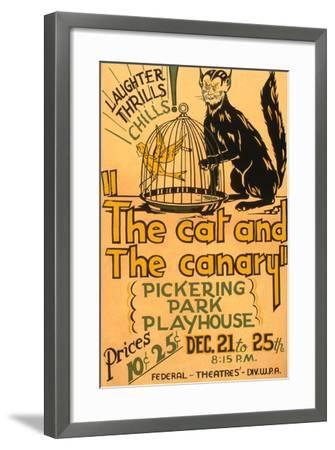 Cat and the Canary--Framed Art Print