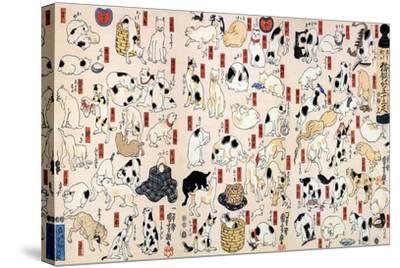 53 Stations of the Tokaido-Kuniyoshi Utagawa-Stretched Canvas Print