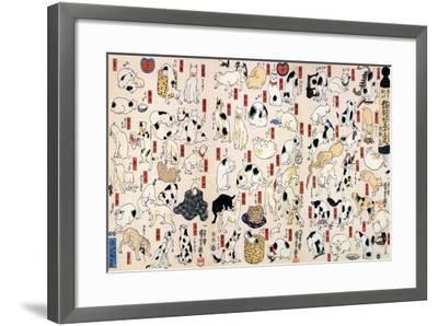 53 Stations of the Tokaido-Kuniyoshi Utagawa-Framed Art Print